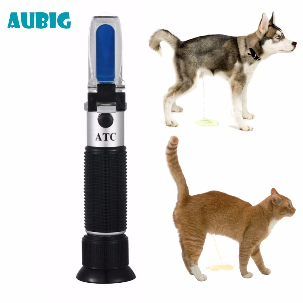 AUBIG Veterinary and Human Dog Cat Piss Urine Refractometer Clinical Medical Pet Dog Cat 2-14g/dl Urine Specific Gravity Tester clinical