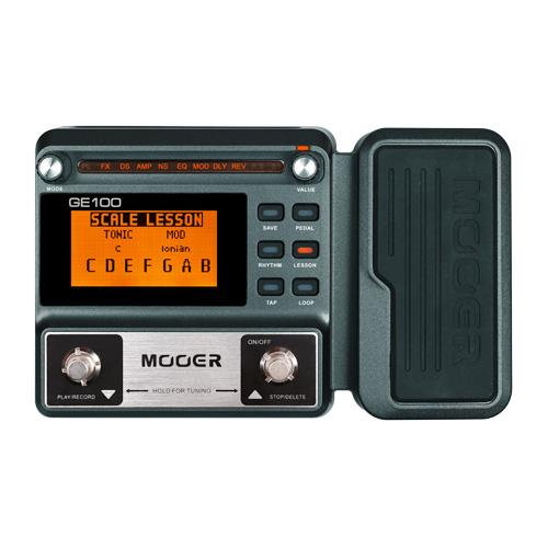 MOOER GE100 Guitar Multi-effects Processor Effect Pedal with Loop Recording Tuning Tap Tempo Rhythm Setting Scale & Chord Lesson image
