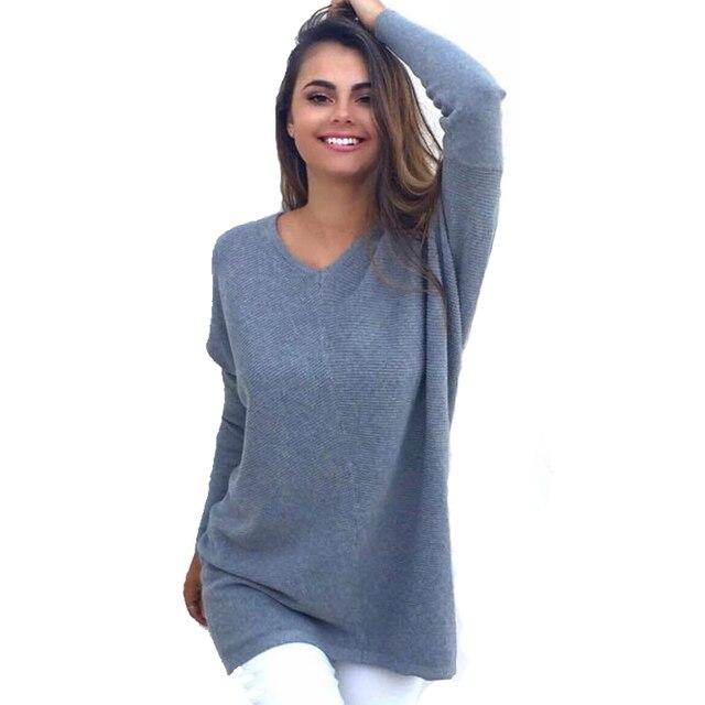 Moda 2016 Mulheres Bordado com Malhas de Moda Camisola das Mulheres do Sexo Feminino V Do Pescoço Solto pullovers Outono Inverno natal sweate
