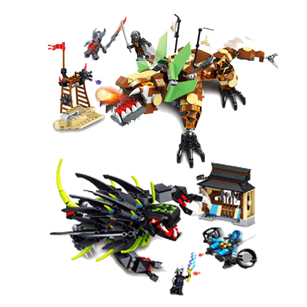 2019 Ninjagoing Dragon 2 en 1 jouets compatibles legoergy Ninjagoergy blocs de construction pour enfants jouet éducatif briques bricolage cadeau