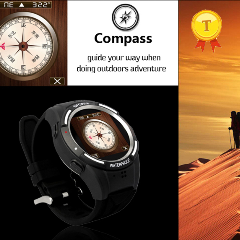 1.54 touch screen round shape sport bluetooth smart watch phonewatch with camera compass pedometer mp3 mp4 temperature altitude цена