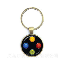 Creative Jewelry Art Picture Keychain Geeky Perfect Gift Idea Men Video Game Controller Man 25mm Glass Dome Keyring(China)