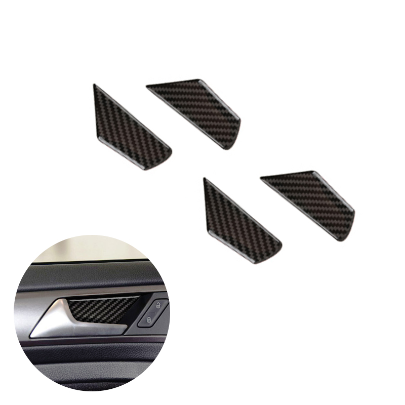 For VW Golf 7 MK7 VII 2013 2014 2015 2016 2017 4pcs Carbon Fiber Car Door Handle Bowl Cover-in Interior Mouldings from Automobiles & Motorcycles