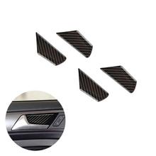 цена на For VW Golf 7 MK7 VII 2013 2014 2015 2016 2017 4pcs Carbon Fiber Car Door Handle Bowl Cover