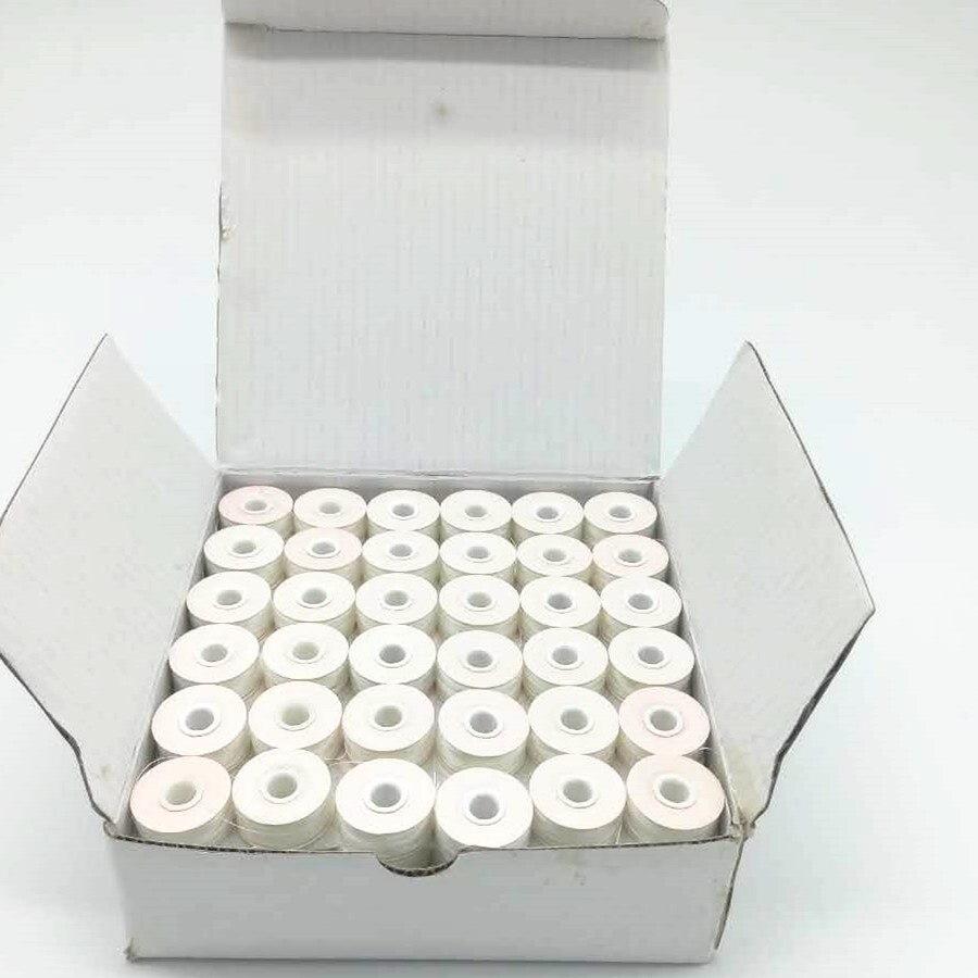 Blanc Couleur Côté Papier Type L 75D/2 144 pcs/boîte pour Broderie Machine Pré-blessure Fil de la Canette