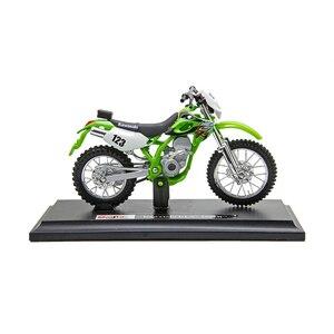 Image 3 - Maisto 1:18 Motorcycle Models Kawasaki KLX250SR KLX Diecast Plastic Moto Miniature Race Toy For Gift Collection