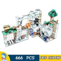 666pcs My World The Bedrock Adventures Overworld Mine 10990 Model Building Blocks Kids Bricks Compatible with Lago Minecrafted