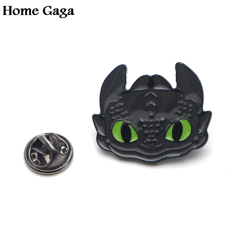 Homegaga How to train your dragon night fury Zinc tie cartoon Funny Pins backpack clothes brooches for men women badges D1832 in Badges from Home Garden
