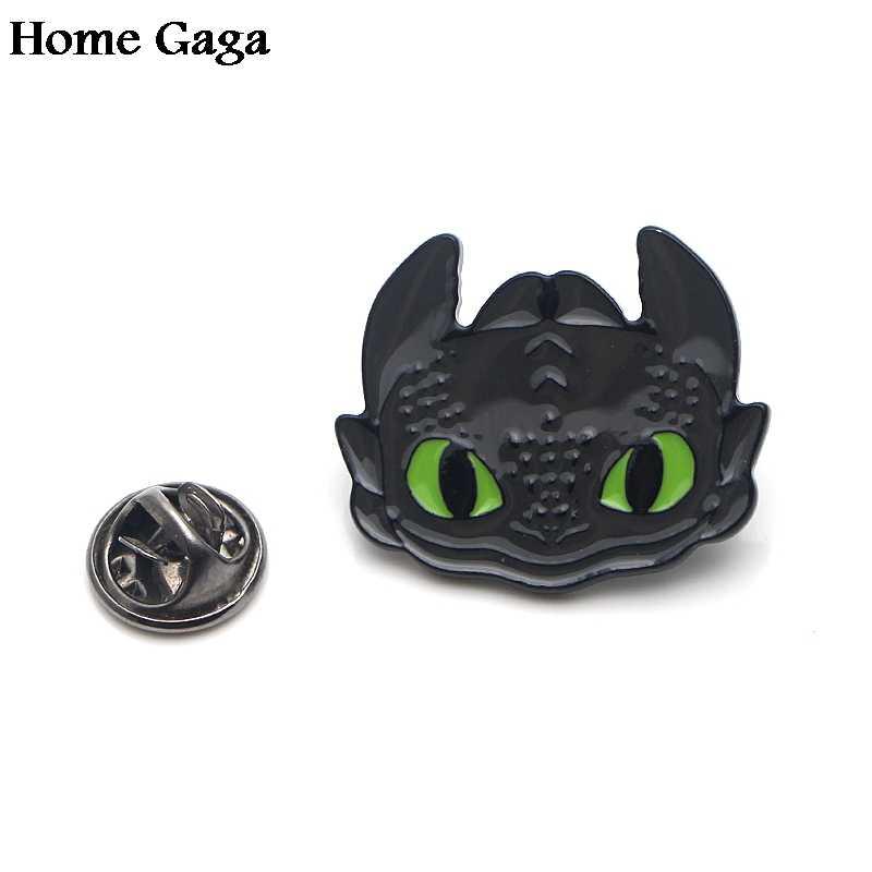 Homegaga Как приручить дракона ночной яростью цинк галстук мультфильм забавные булавки рюкзак Броши Одежда для мужчин женские значки D1832