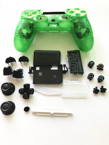 Image 5 - For PS4 Pro JDS 040 JDM 040 V2 Controller Transparent Crystal Full Set Housing Shell Case buttons mod kit Faceplate Replacement