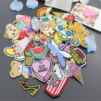 Sewing Clothes Patch Iron On Embroidery Patches Hotfix Applique Motifs Sew On Garment Stickers fish monkey horse  Cool New embroidery
