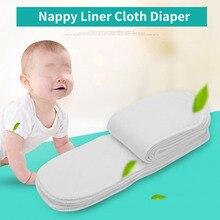 10 шт из хлопчатобумажной ткани для ребёнка подгузники многоразовые мягкие дышащие детские тканевые подгузники для новорожденных подгузники с вкладышами в 3 слоя
