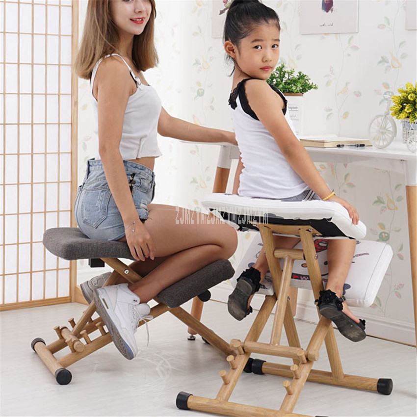 New Household Soft Seat Adult Student Learning Ergonomic Chair Armless Child Sitting Posture Correction Kneeling Chair