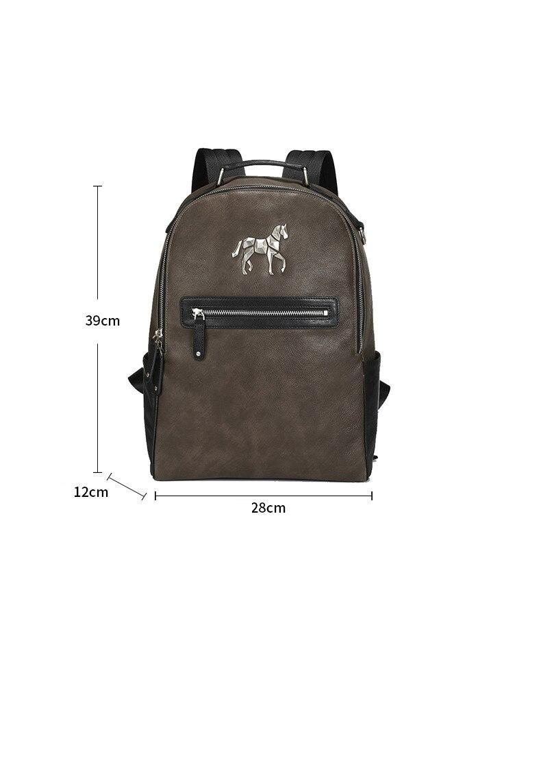 Nouveau sac à dos licorne sac à bandoulière en cuir pour hommes sac étudiant coréen sac à dos de loisirs - 6