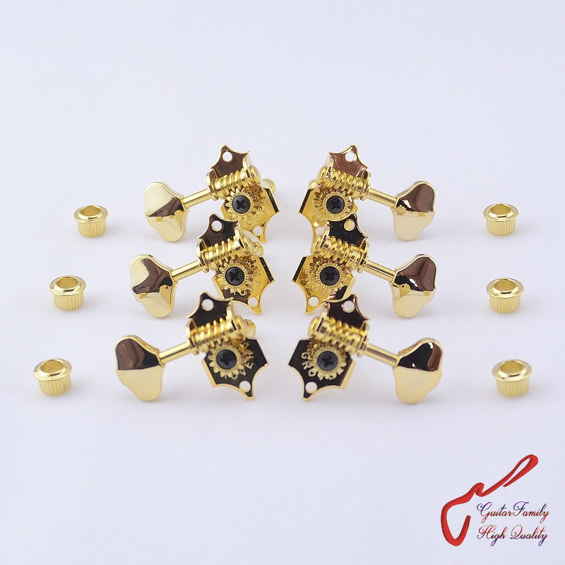 buy 1set 3r 3l genuine vintage grover guitar machine heads tuners golden. Black Bedroom Furniture Sets. Home Design Ideas