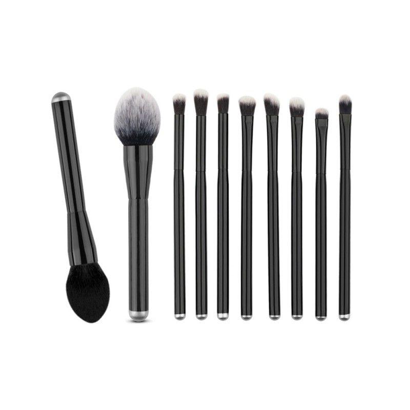 5/6/8/10PCS Black Make Up Foundation Eyebrow Eye Shadow Blusher Blush Cosmetic Concealer Brushes Set Tools