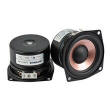 Aiyima 2 pc 2.5 Polegada 8 15 w alto falante de áudio 4ohm 8ohm alta fidelidade alto falante de alta sensibilidade