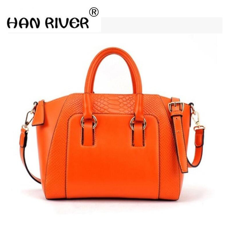 HANRIVER In spring of 2018, the new elegant atmosphere woman bag of American and European simple alligator print shoulder bag