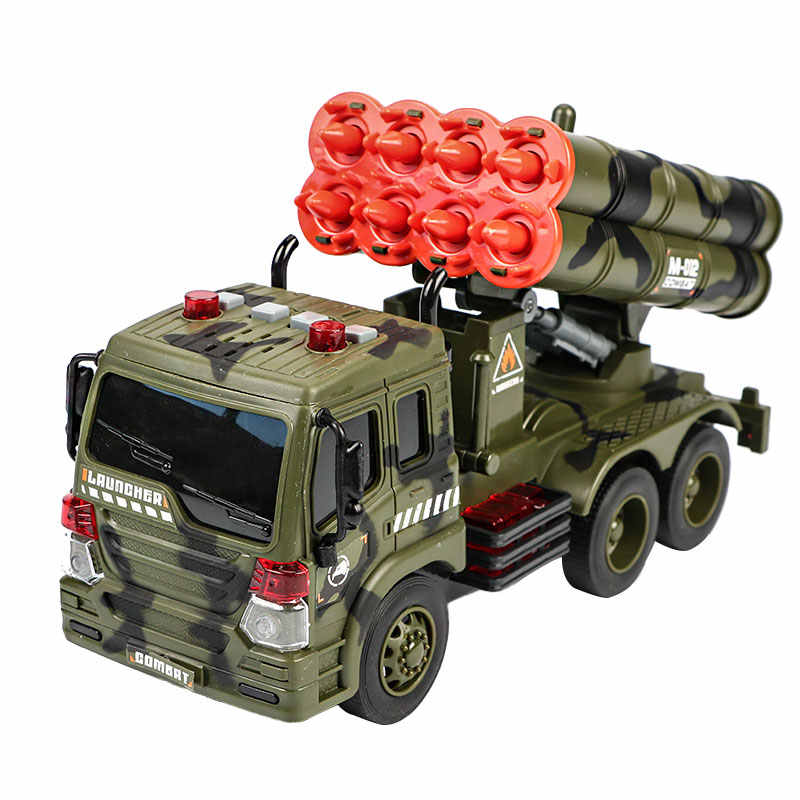 Инерционную Инженерная ракеты войны автомобиль детей игрушки Военный серии