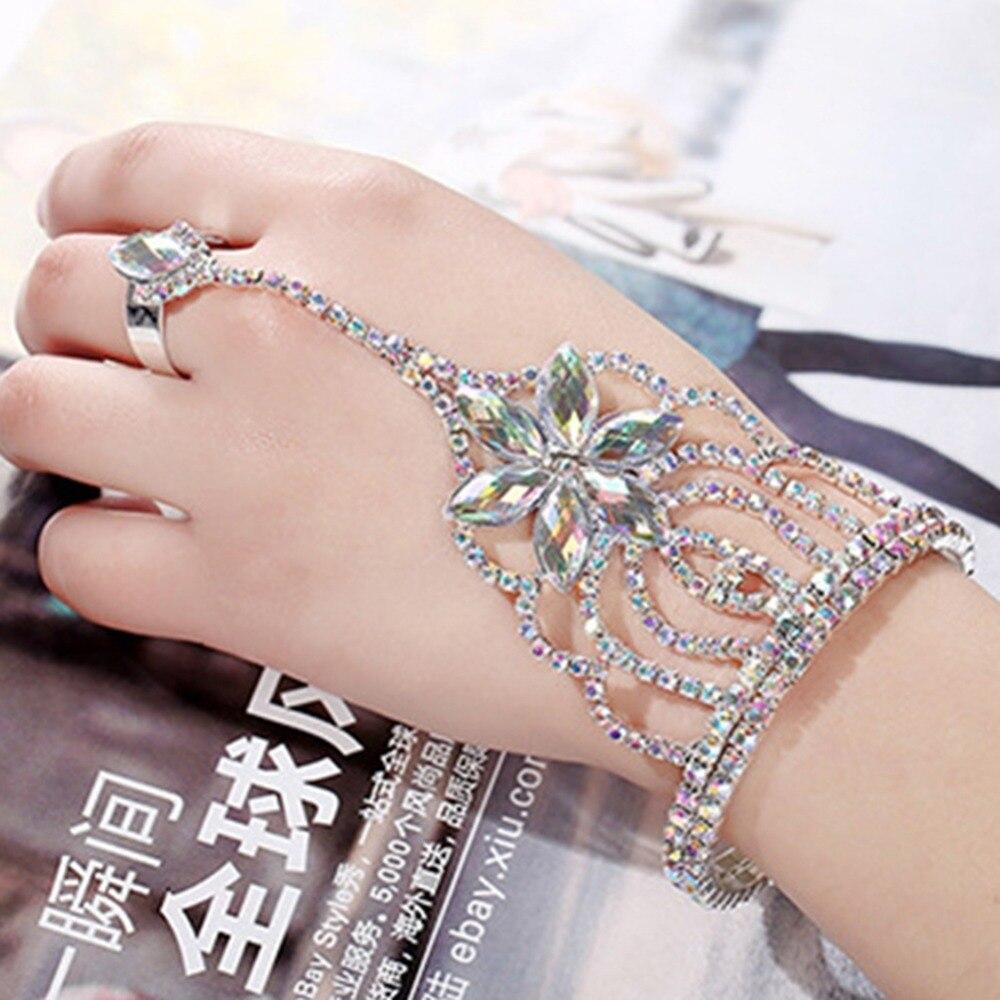 Erkek Bileklik Offre Spéciale Nouvelle-Coréen De Mode Cristal Bracelet Chaîne de Main de Mariée De Bijoux De Mariage Pour Les Mariées Pageant 1