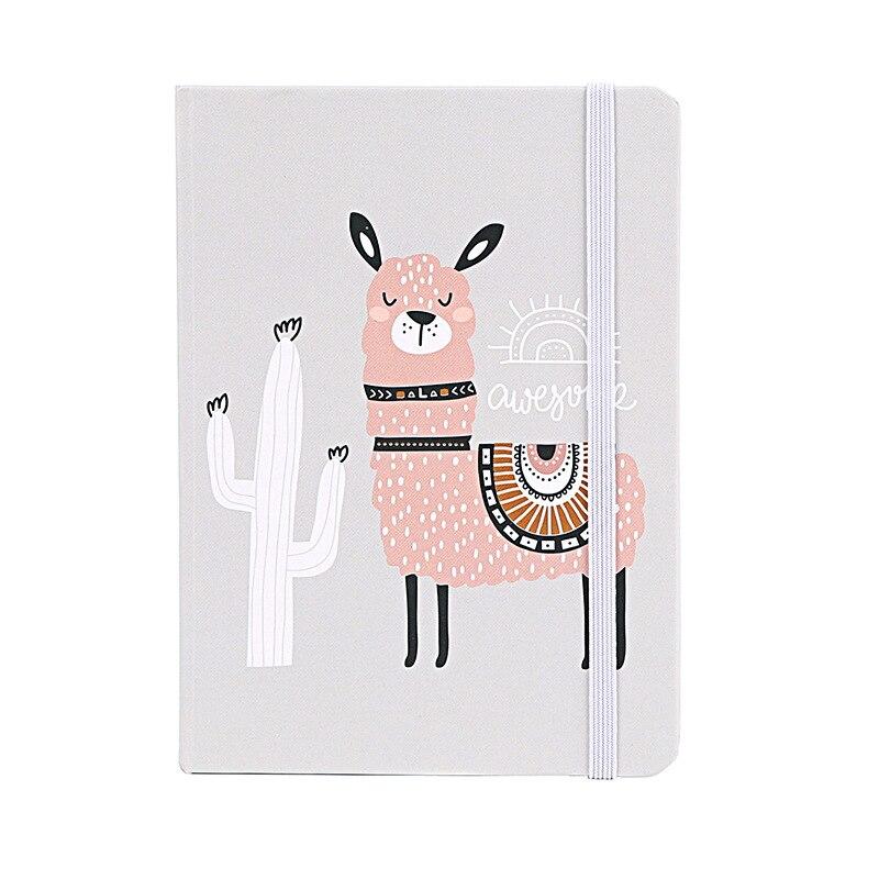 A5 Cat Alpaca Unicorn Kawaii Hardcover Notebook Stationery Planner Cute School Diary Libretas Memos Student Gift School Supplies