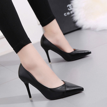 Sexy Womens Pumps European And American Style Pointed Pu Hig