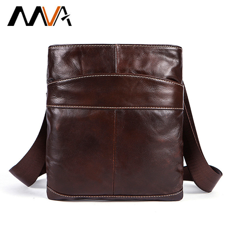 MVA Genuine Leather Men Bag Men Messenger Bags Fashion ipad Flap Crossbody Bags Small Casual Mens Leather Shoulder Bag Man ...
