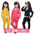 Envío gratis 2013 nueva venta caliente de moda elegante niño femenino los niños muchachas de la ropa temperamento sistema del juego