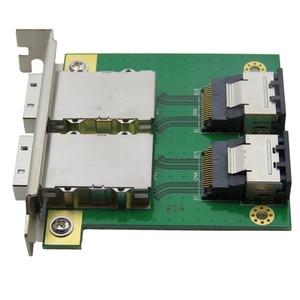 Image 5 - Mini SAS Cho Nội Bộ SFF 8087 Sas 36P Đến 2 Cổng Ngoài HD Sas26P SFF 8088 Mặt Trước PCI SAS Thẻ bộ Chuyển Đổi