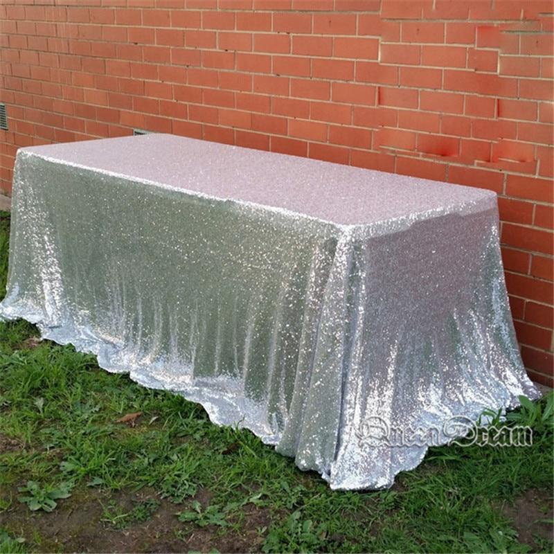 QueenDream Aqua Blue Sequin Tablecloth 4yards Sequin Fabric Sequined Tablecloth for Wedding and Thanksgiving Day Christmas