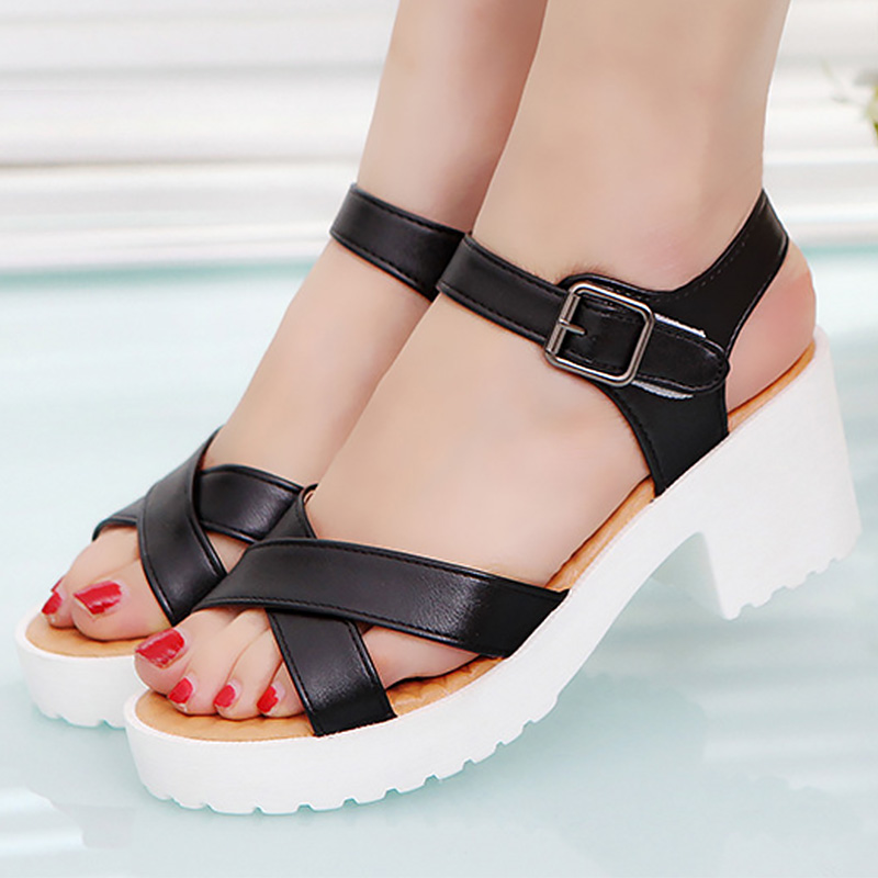 Large size 41/42/43/44/45 Women sandals Buckle Strap Designer Heels sandals woman Increase Sexy Womens sandals