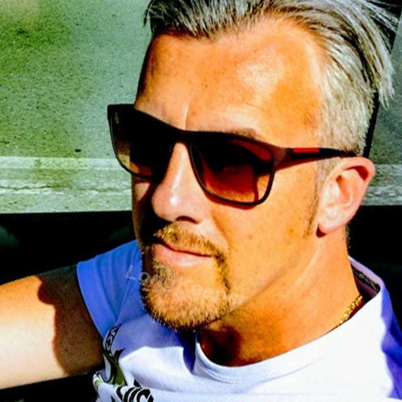 Longحارس نظارات الموضة الرجال مربع النظارات العلامة التجارية الكلاسيكية النساء طلاء نقاط الأسود إطار نظارات شمسية UV400 LK8084