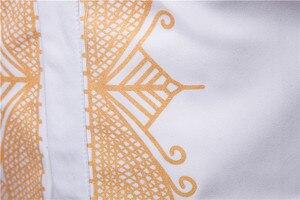 Image 5 - Camiseta de manga larga dorada para hombre, caftán musulmán, Kurta, estilo europeo