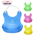 BBHL037 Foreign OEM stereo waterproof baby children plastic imitation silicone bib, baby wipes, baby eating rice pocket