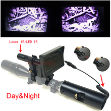 Hot Selling Outdoor Hunting optics 4-16X40AOMC Tactical digital Infrared night vision Laser Sight use in day and