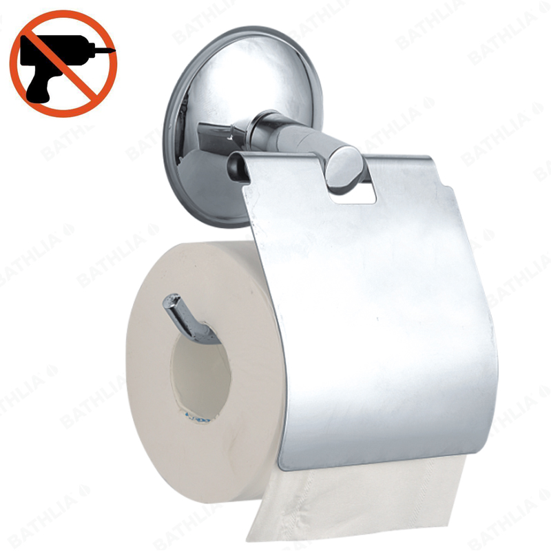 Stainless Steel Toilet paper Holder Heavy Duty Suction Wall Mount Toilet Tissue Paper Holder Bathroom Roll Paper Holder everso 2017 wall mount toilet paper holder chrome 304 sus stainless steel toilet roll paper holder bathroom accessory