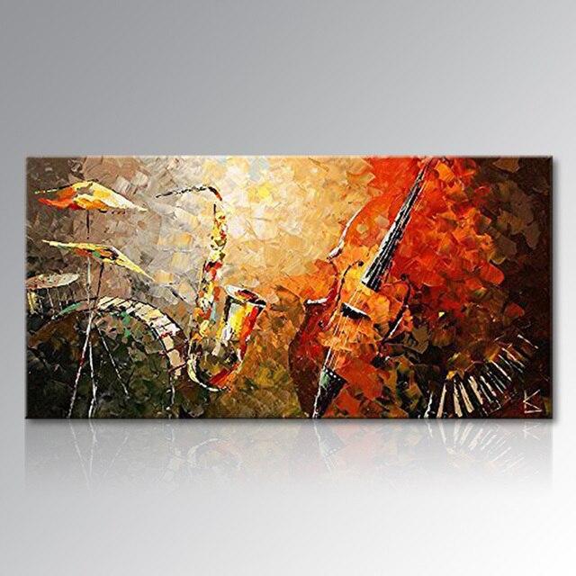 Encadrée Peint À La Main Abstraite Toile Mur Art Moderne