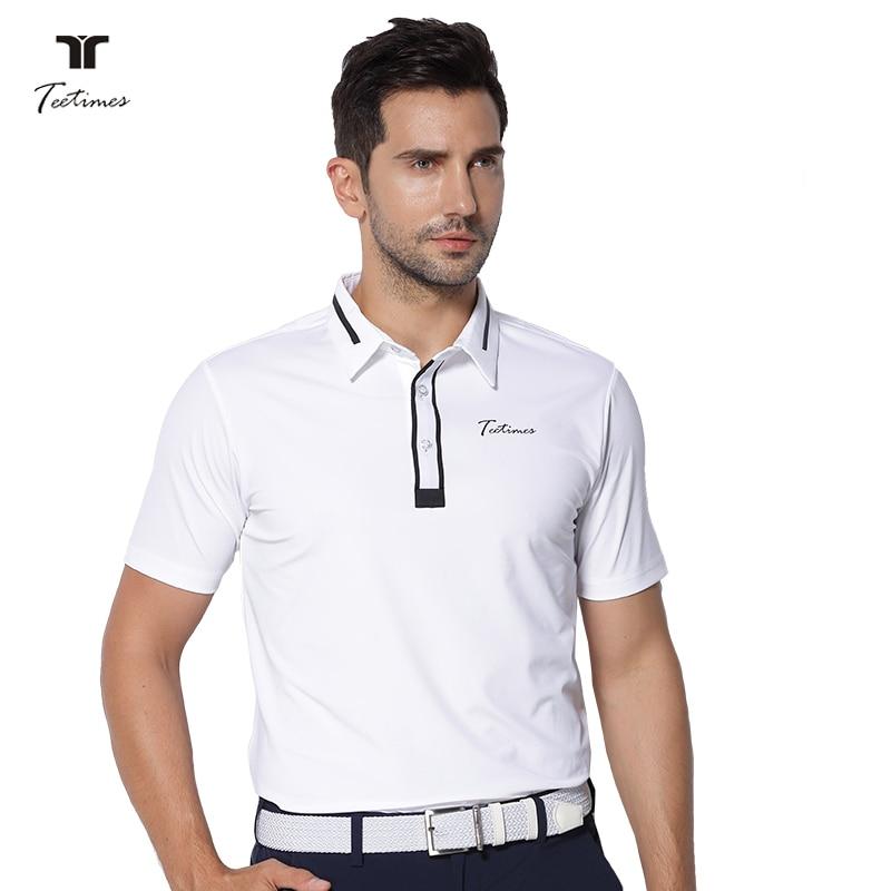 New mens Sportswear Short sleeve Golf shirt 4 colors Golf clothes S-XXL men jersey Leisure Golf shirt tops white strip short sleeve men s cotton men s polo shirt