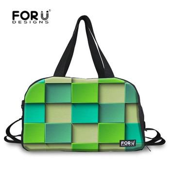 FORUDESIGNS Lattice Colorful Printing Men Women For Gym Fitness Outdoor Travel Messenger Bags 2017 Sac De Sport Light Tennis Bag