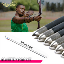 Hunting Archery High Quality 6pcs 30 Carbon Arrows Spine 550 Red Blue White feathers Fits Composite / Recurve Bow