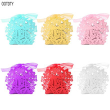 25pcs Laser Cut Butterfly Candy Box Ribbon Creative DIY Wedding Party Favors Boxes Pearlescent Paper Sweet Gift Bag