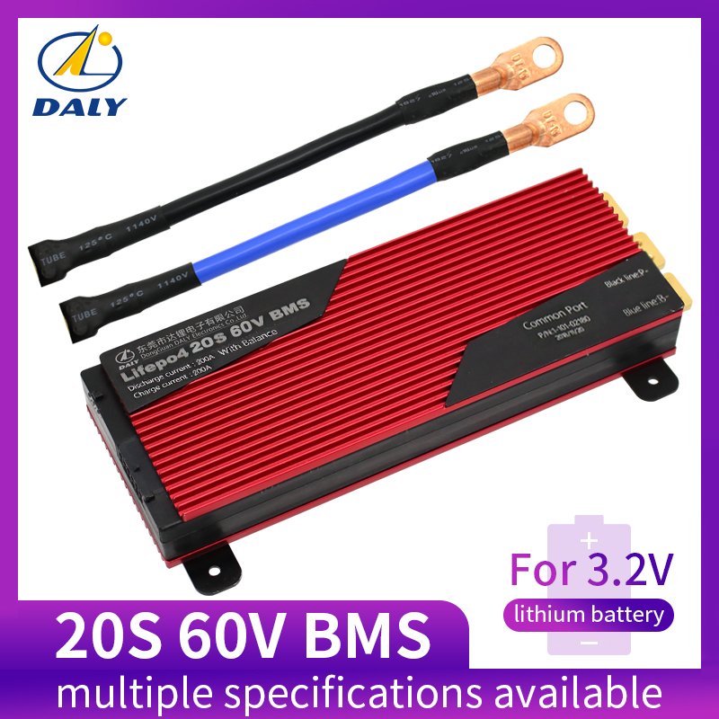 Daly 20S BMS 60V LiFePO4 Battery Management System BMS 80A 100A 120A 150A 200A With High Current For Lithium Battery