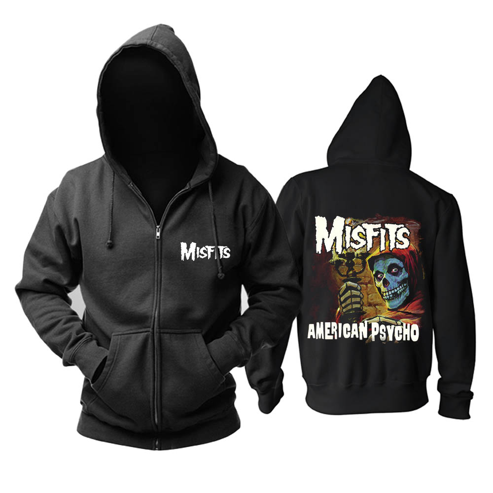 Bloodhoof  The Misfits American Psycho album heavy metal punk rock band hoodie Asian Size