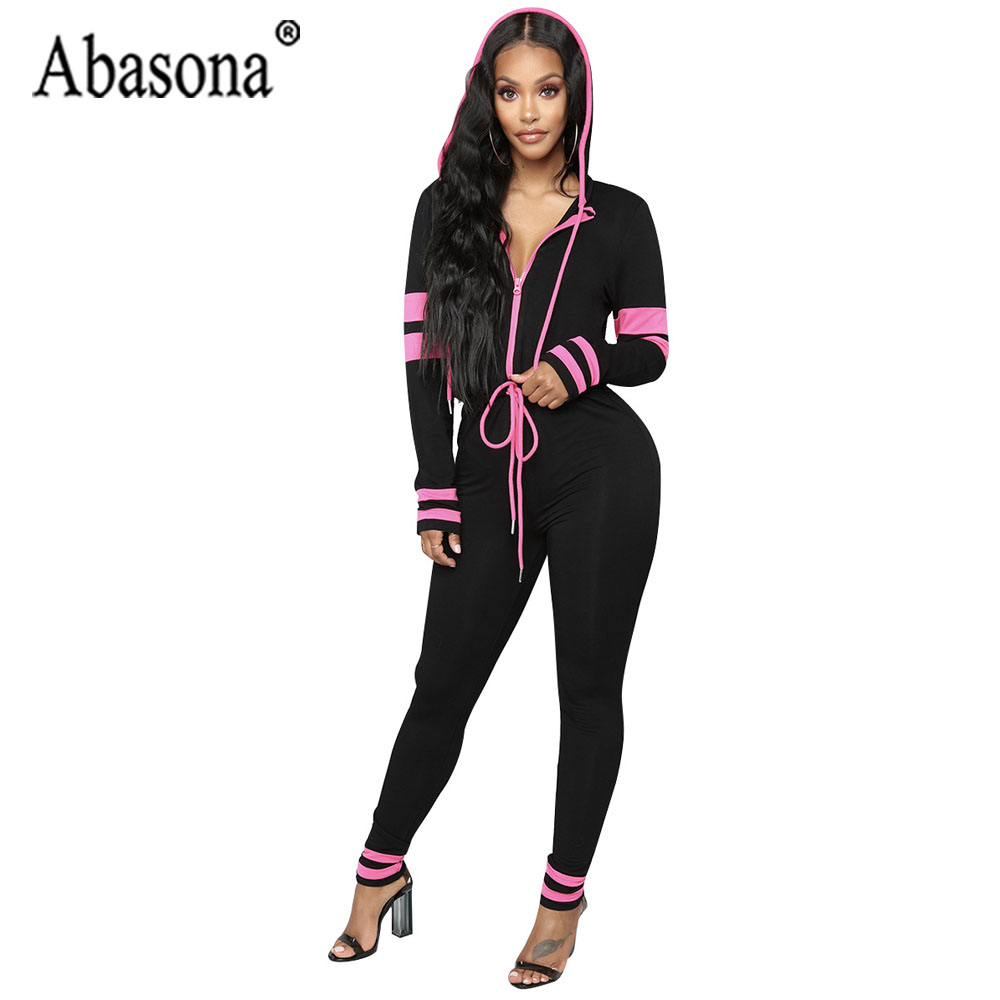 79289a19461 Abasona Sexy Jumpsuits Long Sleeve V Neck Bow Sashes Playsuits Skinny Long  Pants Women Overalls Party Club Jumpsuit Rompers