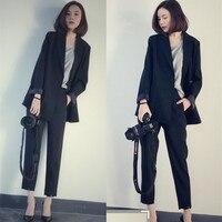 New Formal Suits for Women Casual Office Business Suitspants Work Wear Sets Uniform Styles Elegant Pant Suits black Set Blazer
