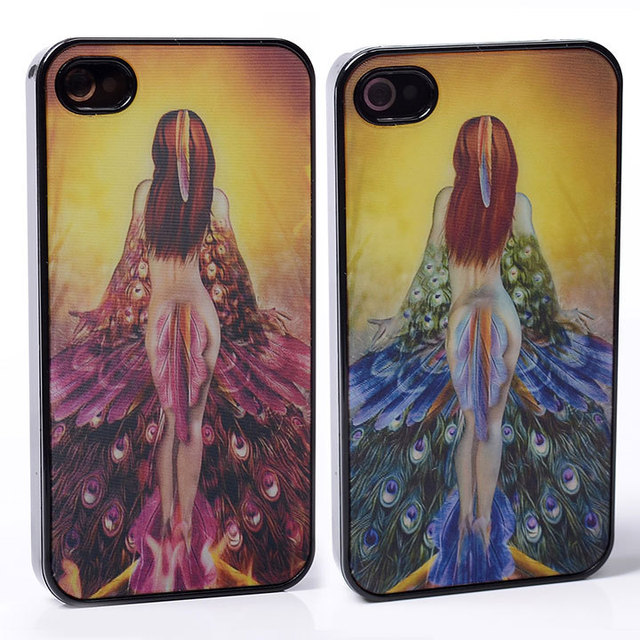 DYNAMIC Movie Video Film Effect peacock feather naked sexy girl Greek  mythology PC Hard Back Shell