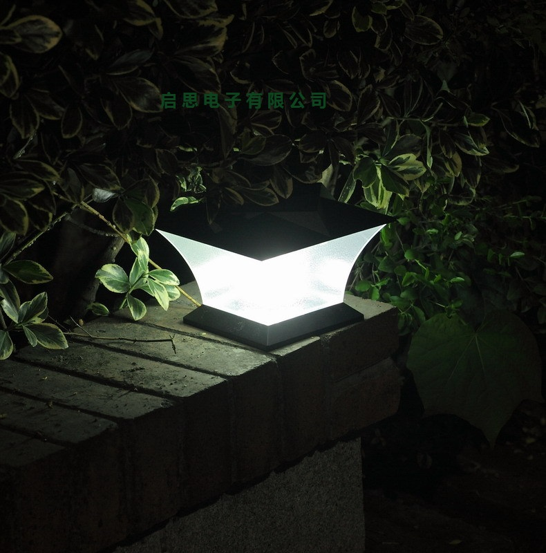 1 Lot 2pcs Ultra Bright 7 Solar Post Cap Light Led Lamp Deck Fence Mount Outdoor Garden