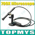 Free Shipping 1pc/lot 700X 4LED USB Digital Microscope Endoscope Magnifier Camera ,10mm Diameter Waterproof Microscpoe TM-HM07X