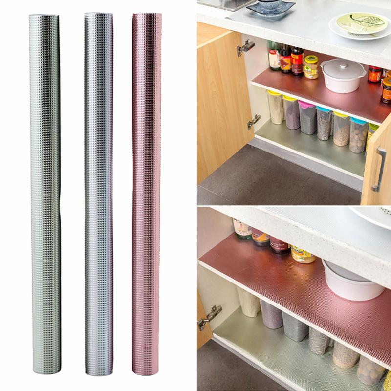 Kitchen Shelf Liner Reviews: Waterproof Anti Oil Kitchen Table Mat Storage Drawers
