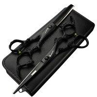 6 Inch Salon Special Hairdressing Scissors Black Faucet Hairdresser Professional Modeling Tools Barber Scissors Set